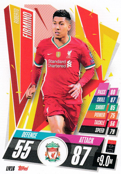 #LIV16 Roberto Firmino (Liverpool FC) Match Attax Champions League 2020/21