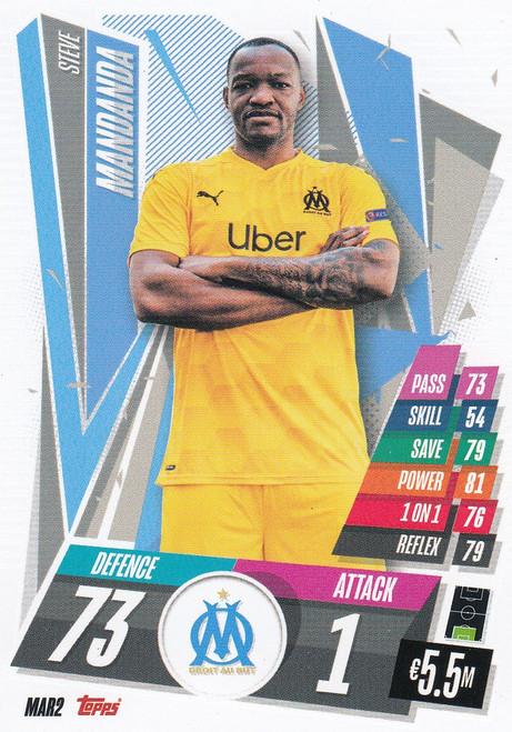#MAR2 Steve Mandanda (Olympique de Marseille) Match Attax Champions League 2020/21