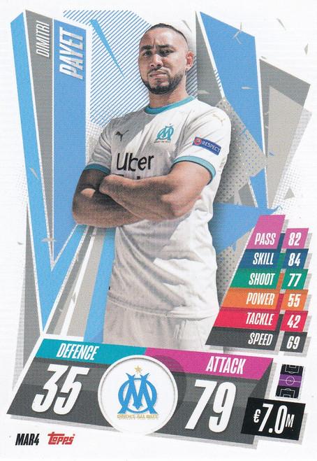 #MAR4 Dimitri Payet (Olympique de Marseille) Match Attax Champions League 2020/21
