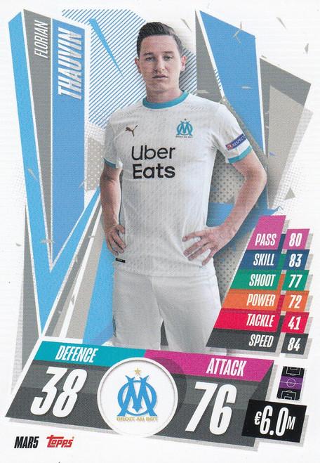 #MAR5 Florian Thauvin (Olympique de Marseille) Match Attax Champions League 2020/21