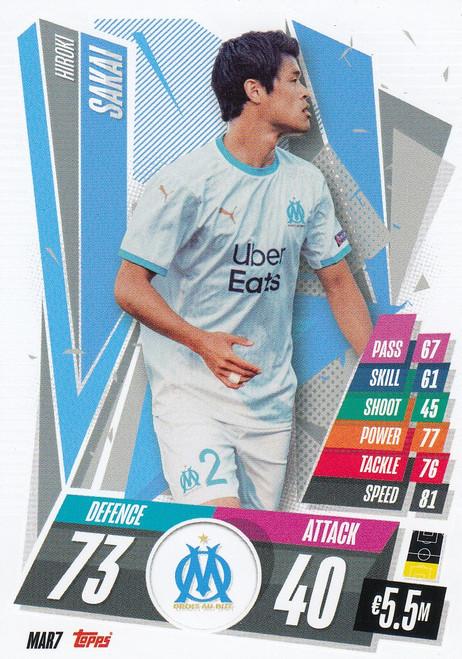 #MAR7 Hiroki Sakai (Olympique de Marseille) Match Attax Champions League 2020/21