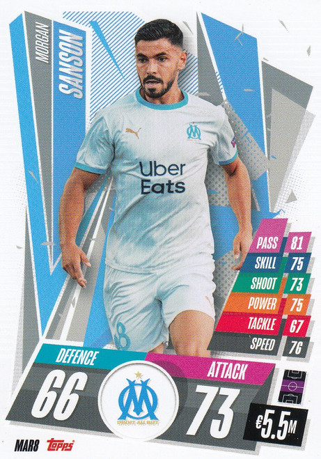#MAR8 Morgan Sanson (Olympique de Marseille) Match Attax Champions League 2020/21