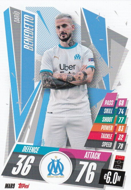 #MAR9 Dario Benedetto (Olympique de Marseille) Match Attax Champions League 2020/21