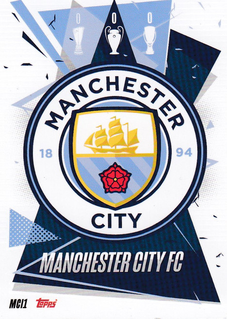 #MCI1 Club Badge (Manchester City) Match Attax Champions League 2020/21