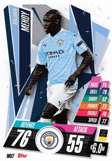 #MCI7 Benjamin Mendy (Manchester City) Match Attax Champions League 2020/21