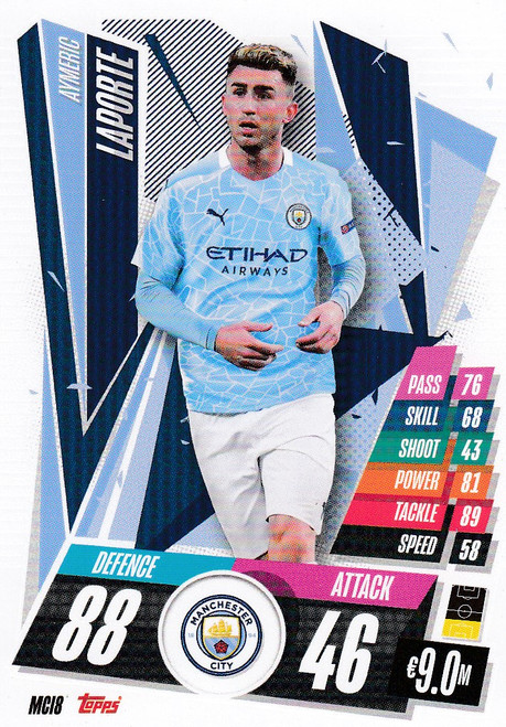 #MCI8 Aymeric Laporte (Manchester City) Match Attax Champions League 2020/21