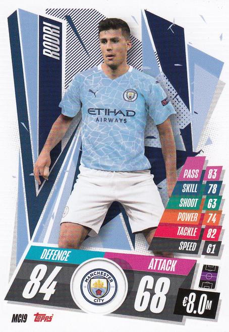 #MCI9 Rodri (Manchester City) Match Attax Champions League 2020/21