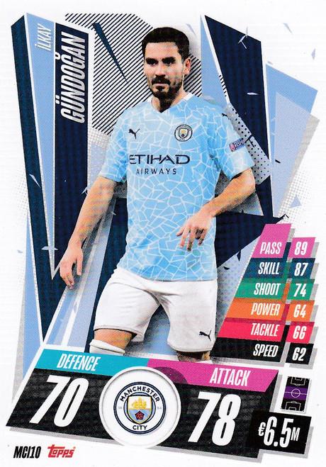 #MCI10 Ilkay Gundogan (Manchester City) Match Attax Champions League 2020/21