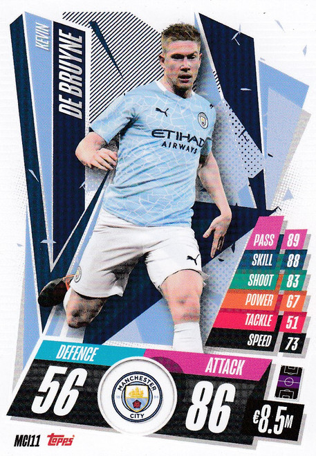 #MCI11 Kevin De Bruyne (Manchester City) Match Attax Champions League 2020/21