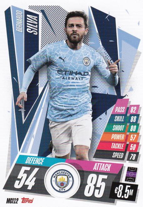 #MCI12 Bernardo Silva (Manchester City) Match Attax Champions League 2020/21