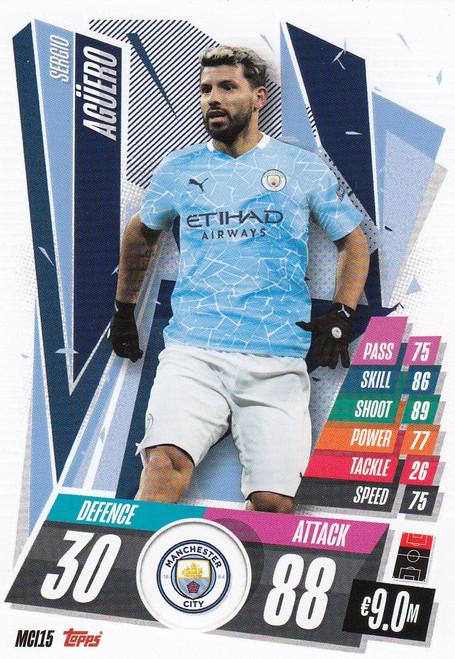 #MCI15 Sergio Aguero (Manchester City) Match Attax Champions League 2020/21