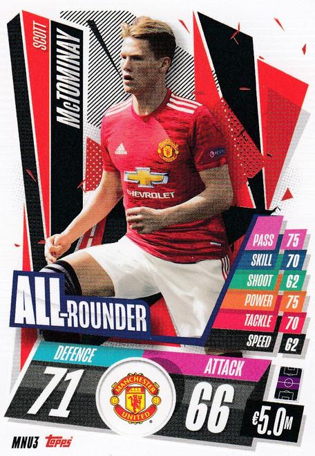 #MNU3 Scott McTominay (Manchester United) Match Attax Champions League 2020/21 ALL ROUNDER