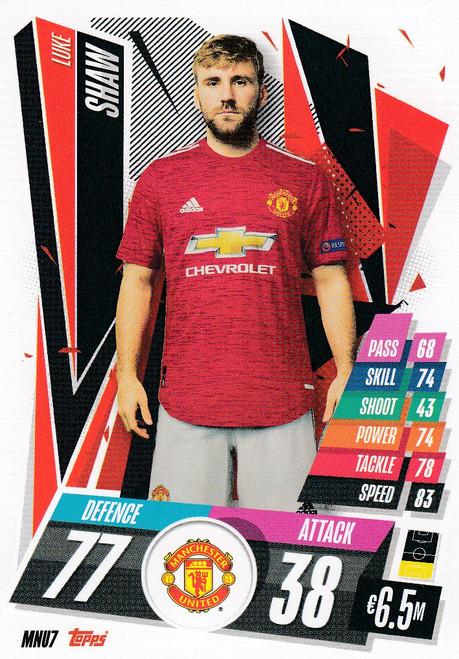 #MNU7 Luke Shaw (Manchester United) Match Attax Champions League 2020/21