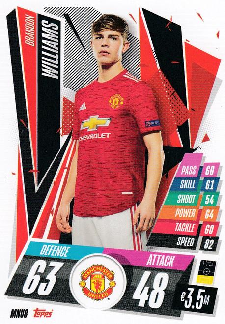 #MNU8 Brandon Williams (Manchester United) Match Attax Champions League 2020/21