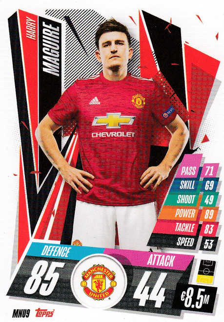 #MNU9 Harry Maguire  (Manchester United) Match Attax Champions League 2020/21