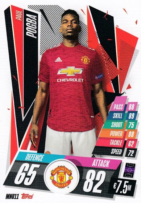 #MNU11 Paul Pogba (Manchester United) Match Attax Champions League 2020/21
