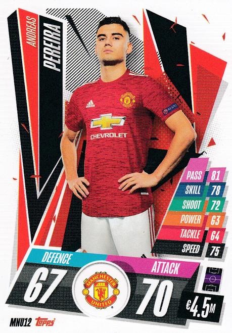 #MNU12 Andreas Pereira (Manchester United) Match Attax Champions League 2020/21