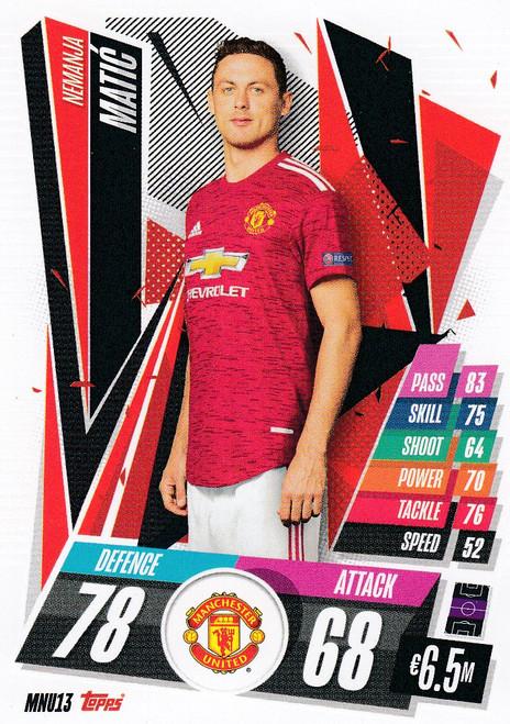#MNU13 Nemanja Matic (Manchester United) Match Attax Champions League 2020/21