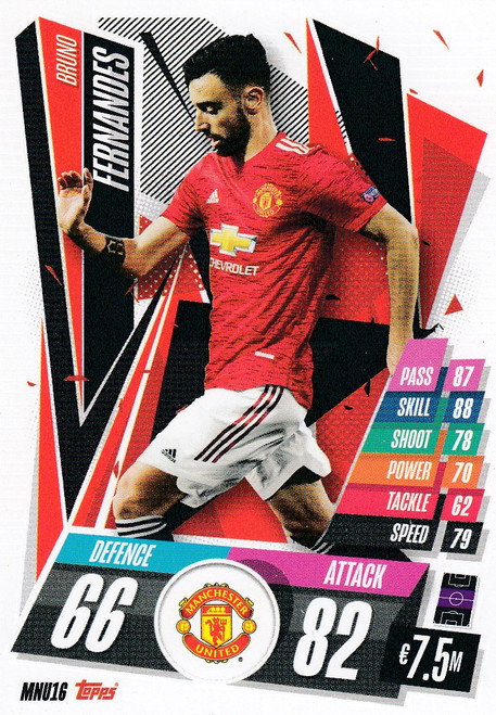 #MNU16 Bruno Fernandes (Manchester United) Match Attax Champions League 2020/21