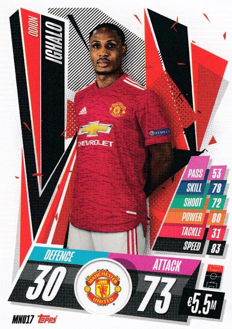#MNU17 Odion Ighalo (Manchester United) Match Attax Champions League 2020/21