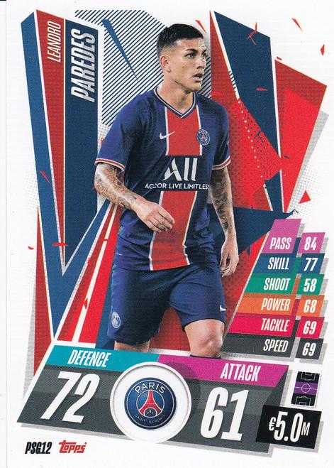 #PSG12 Leandro Paredes (Paris Saint-Germain) Match Attax Champions League 2020/21