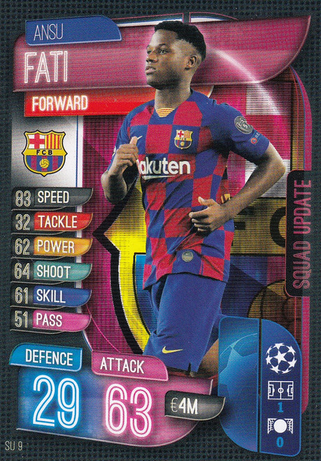 #SU9 Ansu Fati (FC Barcelona) Match Attax EXTRA 2019/20