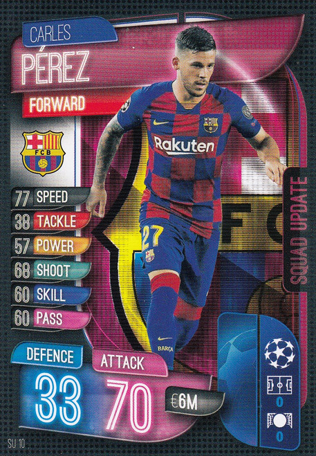 #SU10 Carles Perez (FC Barcelona) Match Attax EXTRA 2019/20