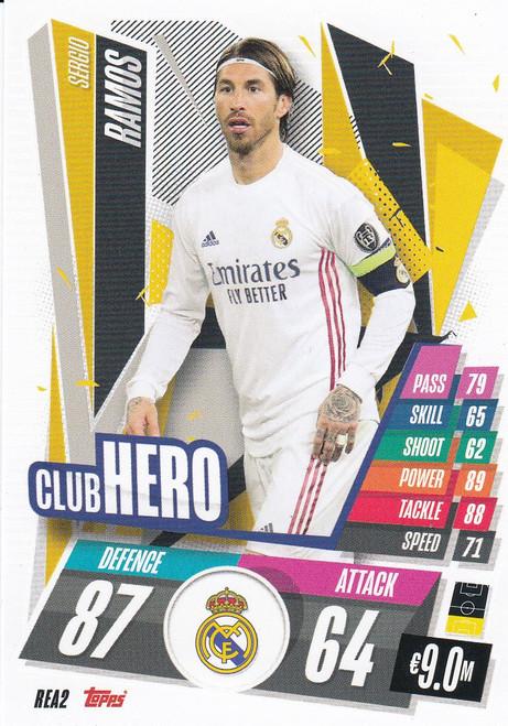 #REA2 Sergio Ramos (Real Madrid CF) Match Attax Champions League 2020/21 CLUB HERO