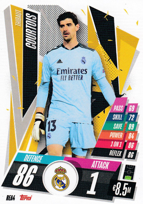 #REA4 Thibaut Courtois (Real Madrid CF) Match Attax Champions League 2020/21