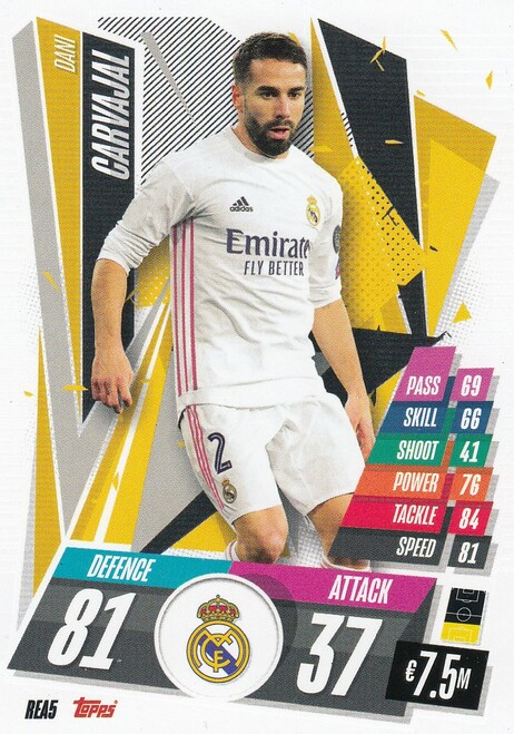 #REA5 Dani Carvajal (Real Madrid CF) Match Attax Champions League 2020/21