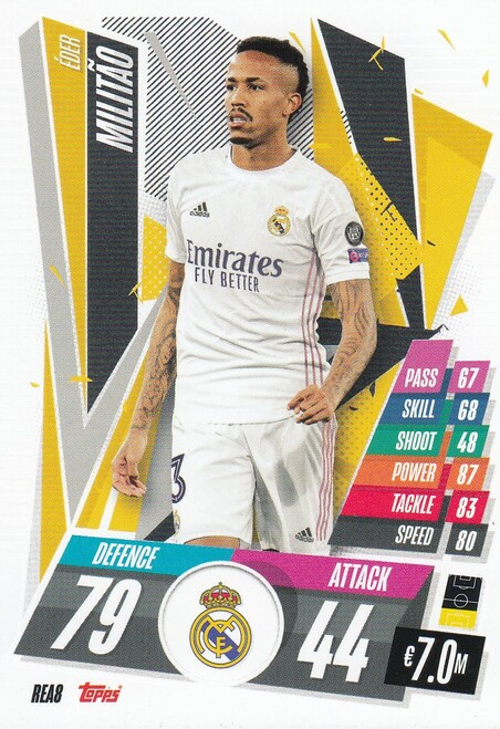 #REA8 Éder Militão (Real Madrid CF) Match Attax Champions League 2020/21
