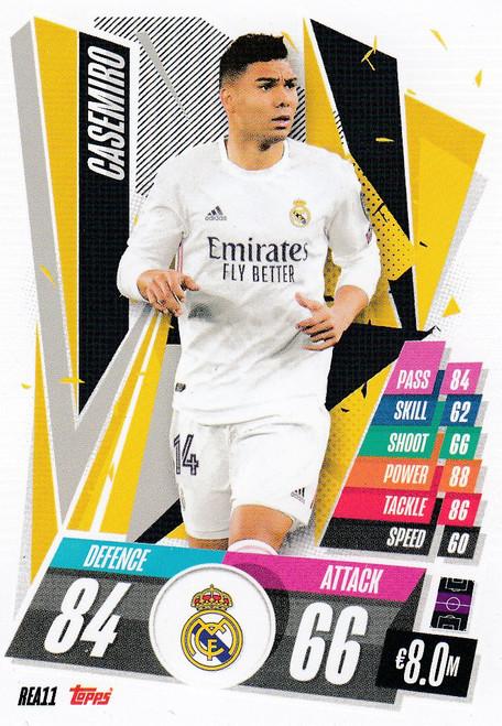 #REA11 Casemiro (Real Madrid CF) Match Attax Champions League 2020/21