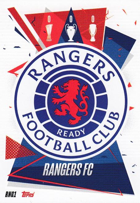 #RNG1 Club Badge (Rangers FC) Match Attax Champions League 2020/21