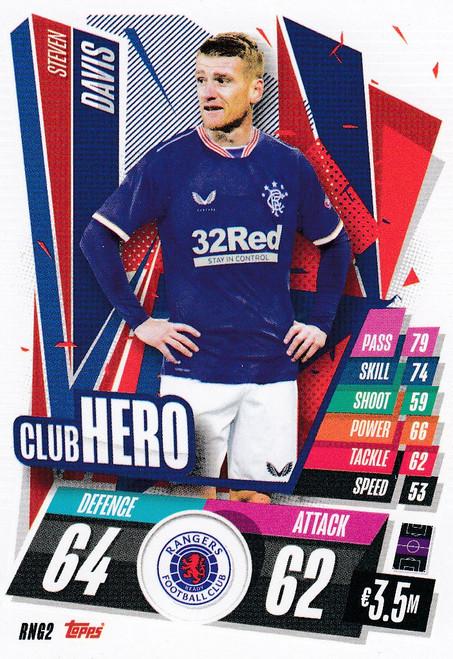 #RNG2 Steven Davis (Rangers FC) Match Attax Champions League 2020/21 CLUB HERO