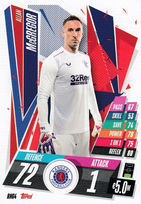 #RNG4 Allan McGregor (Rangers FC) Match Attax Champions League 2020/21
