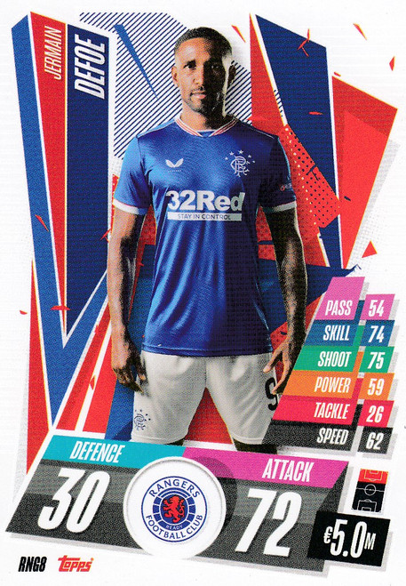 #RNG8  Jermain Defoe (Rangers FC) Match Attax Champions League 2020/21