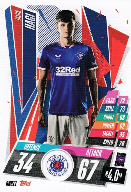 #RNG11 Ianis Hagi (Rangers FC) Match Attax Champions League 2020/21