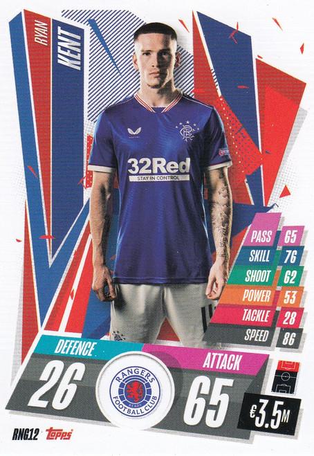 #RNG12 Ryan Kent (Rangers FC) Match Attax Champions League 2020/21