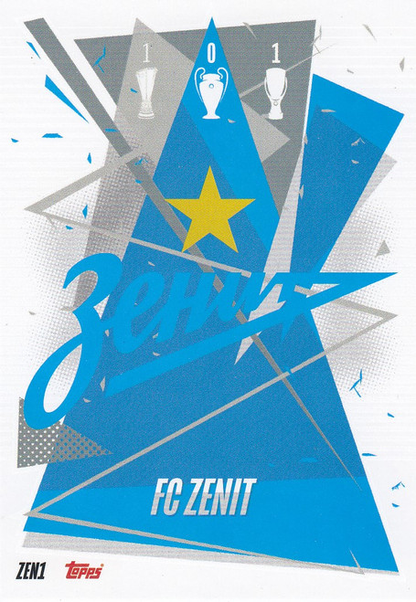 #ZEN1 Club Badge (FC Zenit) Match Attax Champions League 2020/21