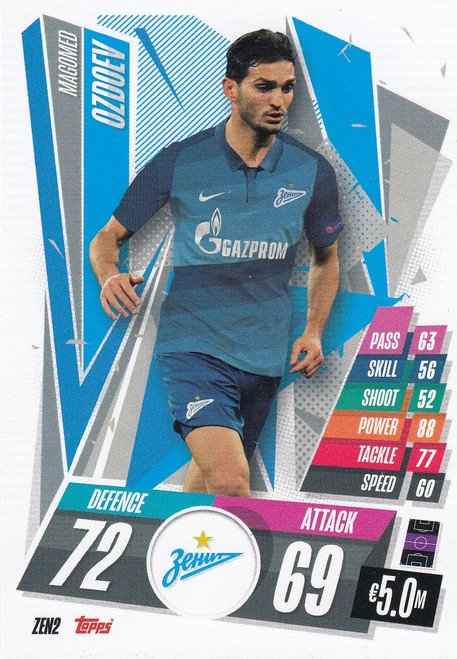 #ZEN2 Magomed Ozdoev (FC Zenit) Match Attax Champions League 2020/21