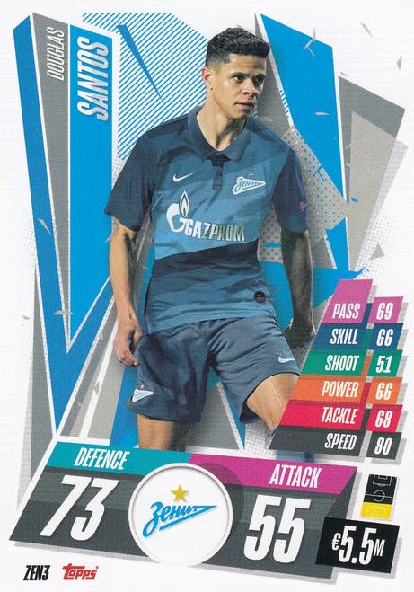 #ZEN3 Douglas Santos (FC Zenit) Match Attax Champions League 2020/21