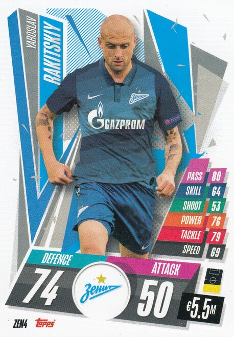#ZEN4 Yaroslav Rakitskiy (FC Zenit) Match Attax Champions League 2020/21