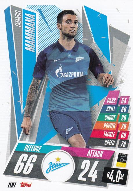 #ZEN7 Emanuel Mammana (FC Zenit) Match Attax Champions League 2020/21