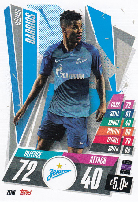 #ZEN8 Wílmar Barrios (FC Zenit) Match Attax Champions League 2020/21