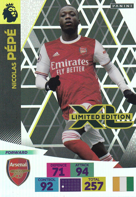 ARSENAL - Nicolas Pepe Adrenalyn XL Premier League 2020/21 LIMITED EDITION