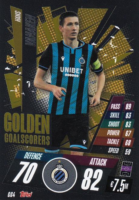 #GG4 Hans Vanaken (Club Brugge) Match Attax Champions League 2020/21 GOLDEN GOALSCORERS