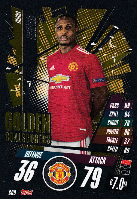 #GG9 Odion Ighalo (Manchester United) Match Attax Champions League 2020/21 GOLDEN GOALSCORERS
