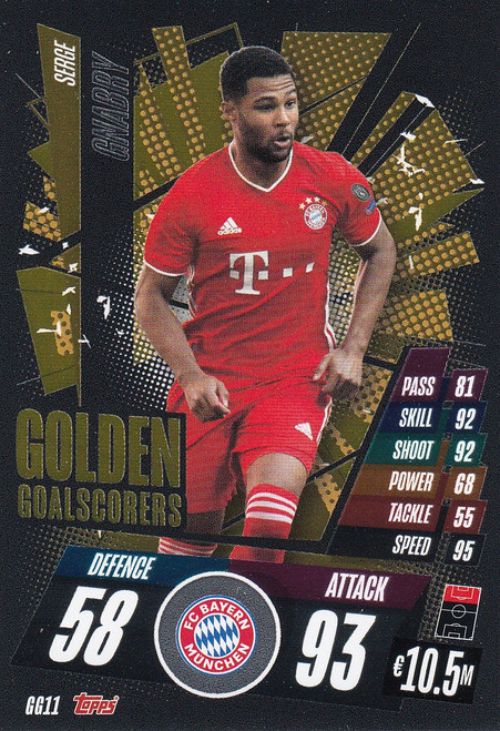 #GG11 Serge Gnabry (FC Bayern München) Match Attax Champions League 2020/21 GOLDEN GOALSCORERS