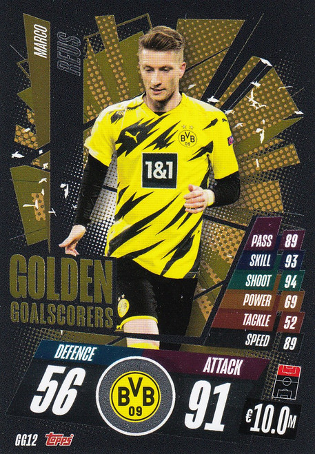 #GG12 Marco Reus (Borussia Dortmund) Match Attax Champions League 2020/21 GOLDEN GOALSCORERS