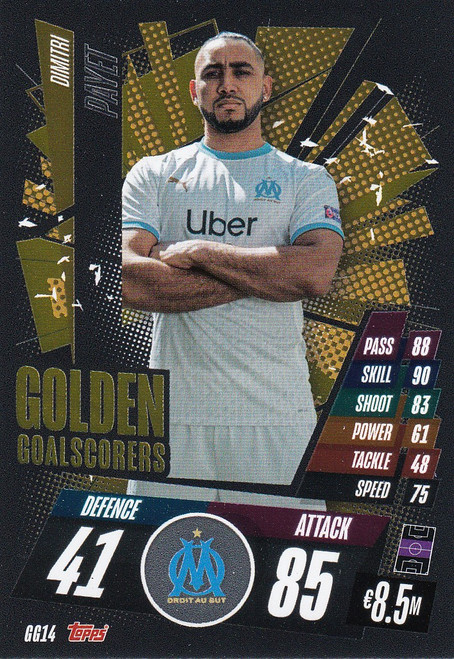#GG14 Dimitri Payet (Olympique de Marseille) Match Attax Champions League 2020/21 GOLDEN GOALSCORERS
